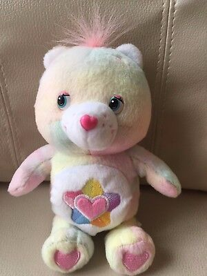 "Care Bears True Heart Bear 2009 Plush Rainbow H 18cm 7"" USED From Japan F/S"