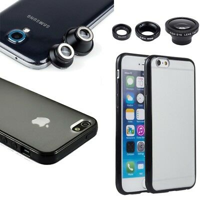 Magnetic Camera Lens + TPU Bumper Hard Case For iPhone 5s SE 6 6s 7 8 Plus
