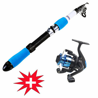 Portable Fishing Rod and Reel Combos Left/Right Hand Reel & Rod Kits Fishing Set