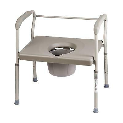 Duro-Med Commode Chair, Heavy-Duty Steel Toilet Safety Frame
