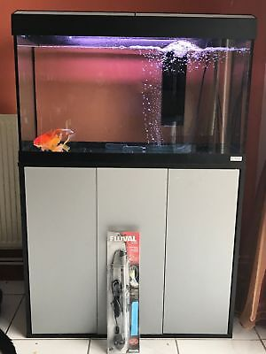 Tropical fish tank with cabinet stand  eBay