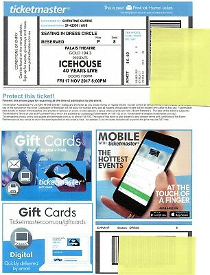 Icehouse tickets x 2