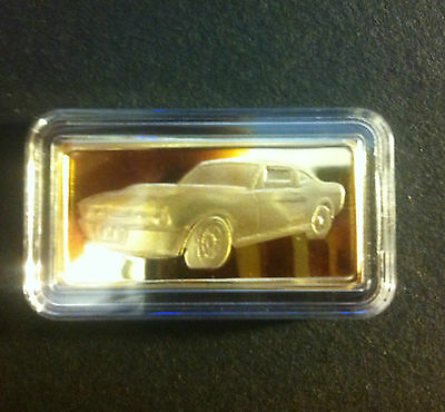 """5 Gram Awesome Muscle Car """"SHELBY"""" Ingot Finished in 999 Fine 24 k Gold"""