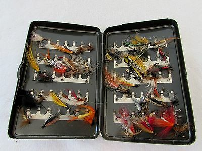 Lot Vintage Fishing Flies Aluminum Case Storage Gift for Fishermen Fly Fishing