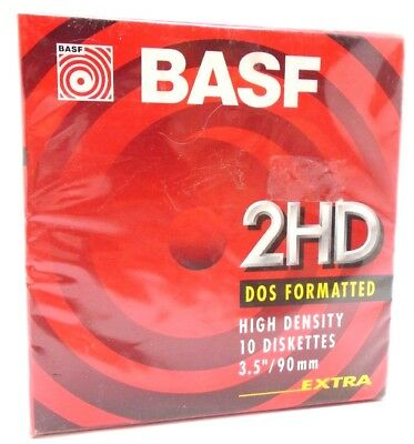 """BASF 2HD DOS formatted High density disc's 3.5""""  box of 10 new Fast & Free P+P"""