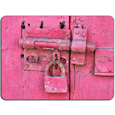 Mousepad EasyGrip Non Slip Mouse Pad Hot Pink Lock Y01306