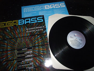 Ex+ Mega Bass The Ultimate Megamix Of The Hottest Club Hits Uk Star 2425 1990 Lp