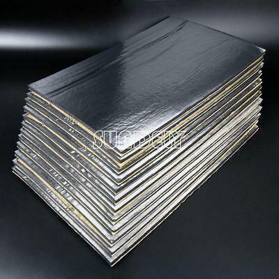 12Sheets Self Adhesive Closed Cell Foam Glass Fibre 10mm Car Sound Insulation