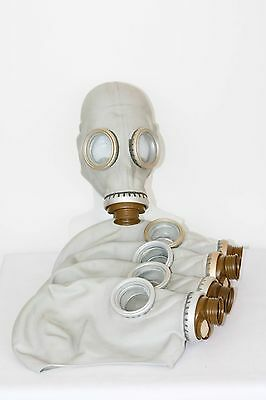 5 pcs of Gas Mask GP-5 mask only NEW but with storage marks S size vintage gray