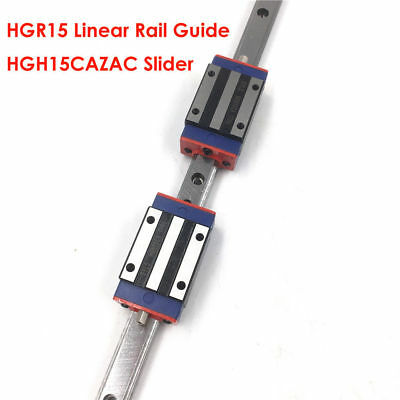 Linear Rail Guide HGR15 15mm Motion + HGH15CA Block Carriages Replace HIWIN
