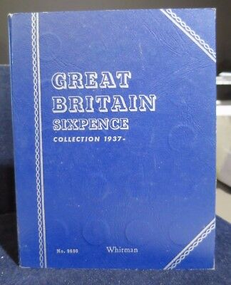 Whitman Folder - Great Britain Sixpence 1937 to Date No. 9690 - 50 Coins