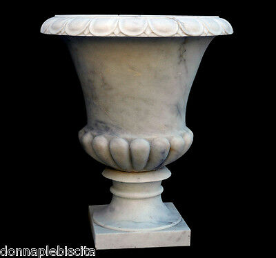 Grande Jar White Marble Carrara Furniture Classic marble White marble Old Vase