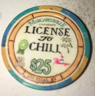 Flamingo $25 Margaritaville Casino Chip Las Vegas Nevada 2.99 Shipping