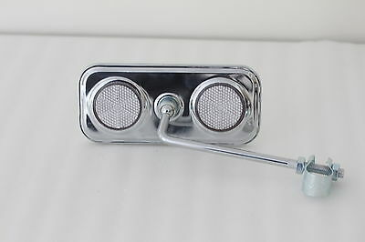 Dragster Lowrider Bicycle Handlebar Mirror Chrome  Bike 140mm Arm Part 6305H