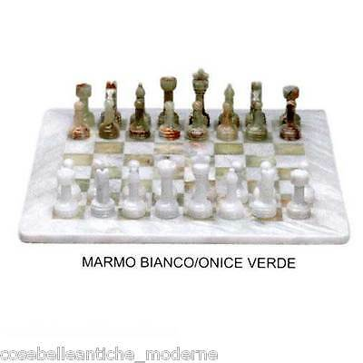 Chessboard in Marble and Onyx Complete Gift Box Marble Chessboard 40x40cm
