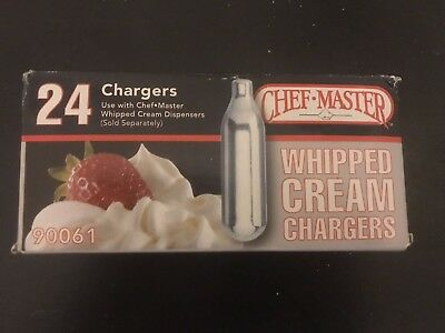 Chef Master N2O Whip It Whipped Cream Chargers, 24-Pack