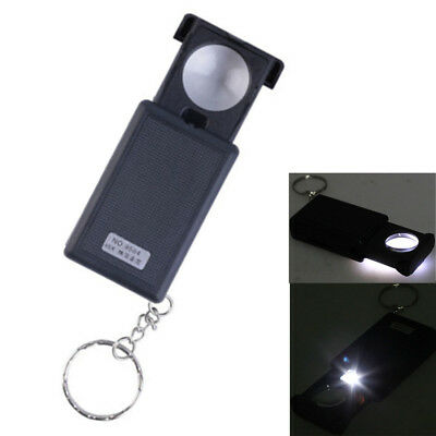 45X Magnifying LED Magnifier Light with Loupe Glass Small Illuminated Jewelers