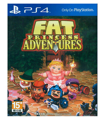 FAT PRINCESS ADVENTURES Sony PlayStation PS4, 2016, Chinese English