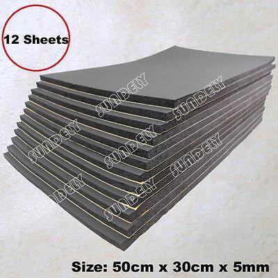 12x Sheets Car Sound Proofing Deadening Vehicle Insulation Closed Cell Foam 5mm