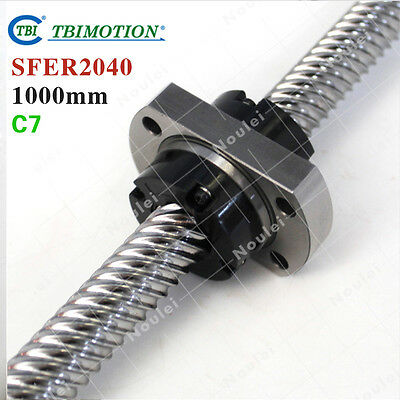 TBI 2040 Ballscrew 1000mm C7 with SFE2040 ball nut 40mm High speed lead CNC kit