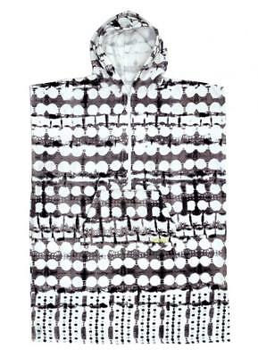 SALE Girls Hooded Surf Poncho - Black Tie Die Print From Ocean & Earth RRP $65