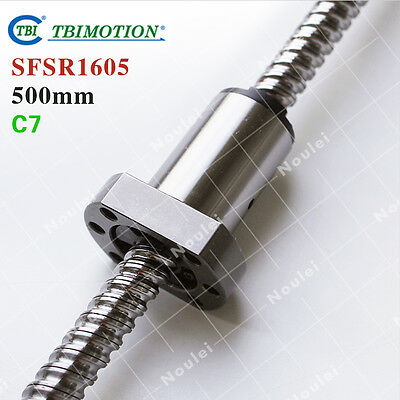 TBI MOTION 1605 Ball screw 500mm Rolled c7 with Ballnut SFS1605