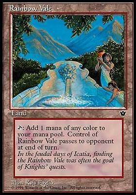 1x RAINBOW VALE - Rare - Fallen Empires - MTG - NM - Magic the Gathering