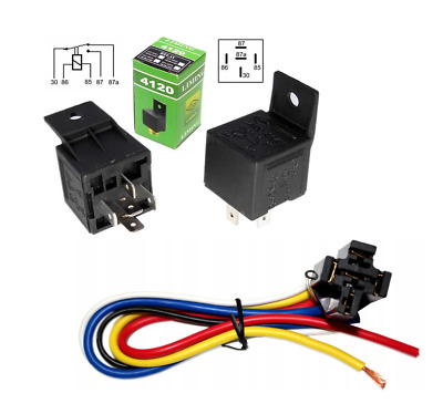 Waterproof 4120 CAR VAN VEHICLE RELAY 5 PINS 12V 40A SOCKET HOLDER