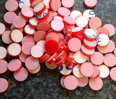 100 x LASER CUT red 11mm discs circles counters plastic shapes crafting art etc