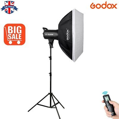UK Godox SL-60W 5600K LED Video light Lampe+60*60cm Softbox+2m light stand Kit