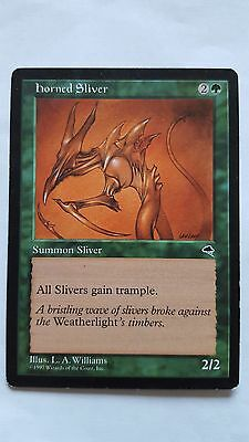 1x HORNED SLIVER - Rare - Tempest - MTG - NM - Magic the Gathering