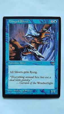 1x WINGED SLIVER - Rare -Tempest - MTG - NM - Magic the Gathering