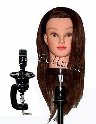 "Bellrino 20-22"" Cosmetology Mannequin Training Head 100% human hair Helen"