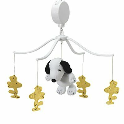 Bedtime Originals Peanuts Forever Snoopy Musical Mobile White/Yellow
