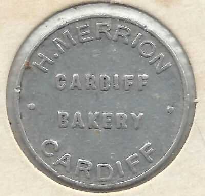 H. Merrion Cardiff Bakery Cardiff One Loaf Round Alum Bread Token