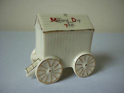 Shelley crested china porcelain bathing hut machine - Bridlington