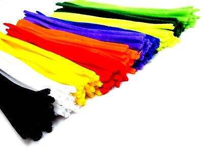 Coloured Pipe Cleaners Chenille Stems Assorted Craft Pipecleaners Craft Stems 25