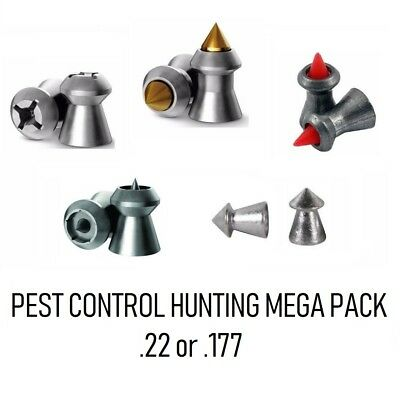 JSB H&N RWS Air Rifle Pellets Pest Control Hunting Sample Pack 8 Types .22 .177