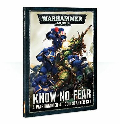 Warhammer 40K 8th Edition - Know No Fear book, core rules, transfers, ruler etc