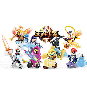 8PCS Building Action Figures Set for King of Glory,No.1 Moba Game in China