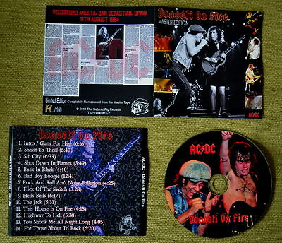AC/DC - LIVE IN DONOSTI 1984 CDR - Limited & Numbered
