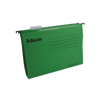 Esselte Classic A4 Green Suspension File Pack of 25 90318 [ES90318]