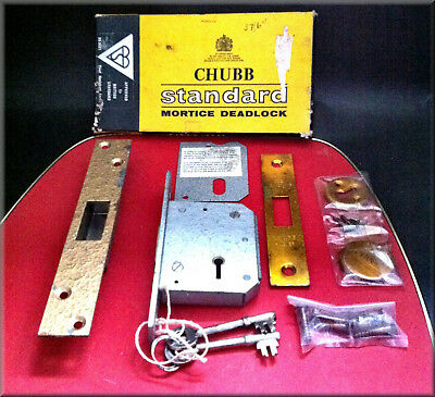 Unused Vintage (1960s) Chubb Standard (5 Lever) Mortise Lock to BS3621 MPN 3G114