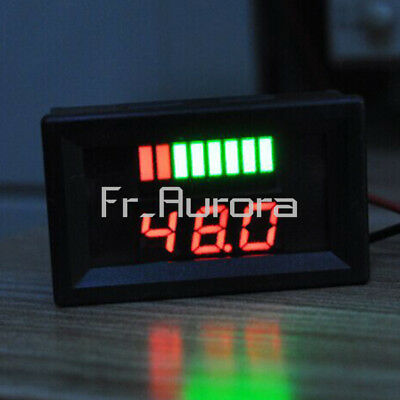 Red LED acid Charge Level Battery Indicator Voltmeter Stable for 6V/12V/36V/48V