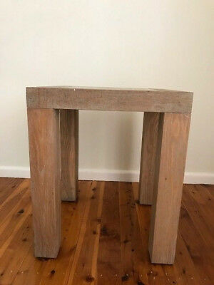 Light brown solid wood small square table
