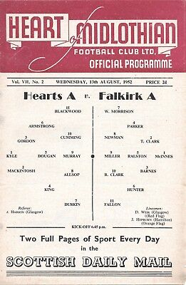 52/53 Hearts Reserves v Falkirk Reserves