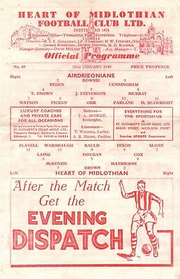 48/49 Hearts v Airdrieonians (Scottish Cup)