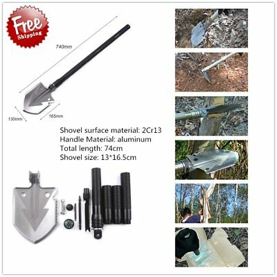 Multifunction Folding Shovel Outdoor Camping Tools Self-defense Survival Tool IU