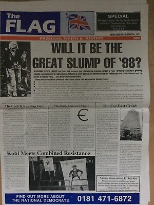The Flag Newspaper 1997 No 101 National Front NF British National Party BNP