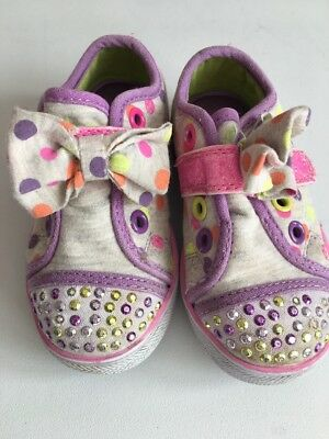 Sketchers Twinkle Toes Baby Girls Pumps size 5